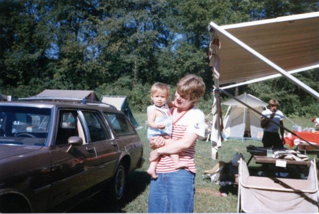 Kate Erdy,  Rosa (Shriver) Erdy,  Joseph Edward Erdy Sr.  Church Campout 1985